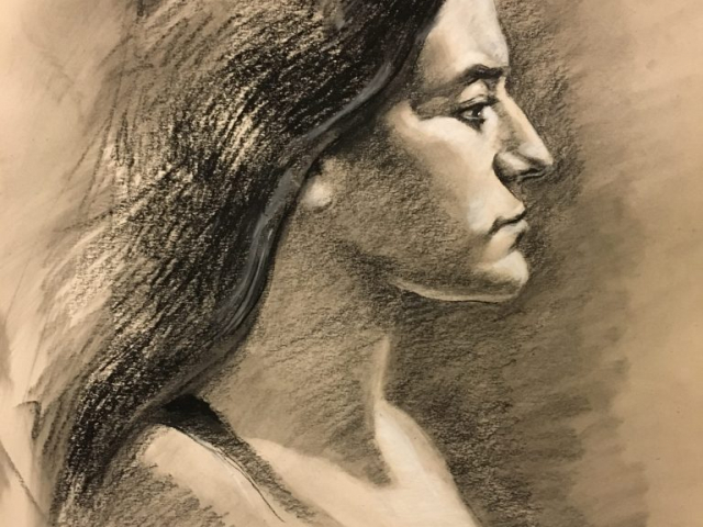 16x20, charcoal on paper (Done studying with Daniel Sprick, Studio Incamminati, Phila