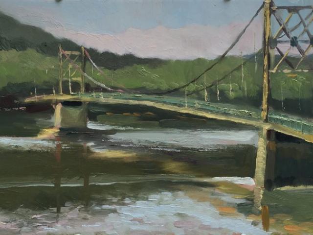 Beaver Bridge, Eureka Springs, Arkansas 8x16 oil on panel