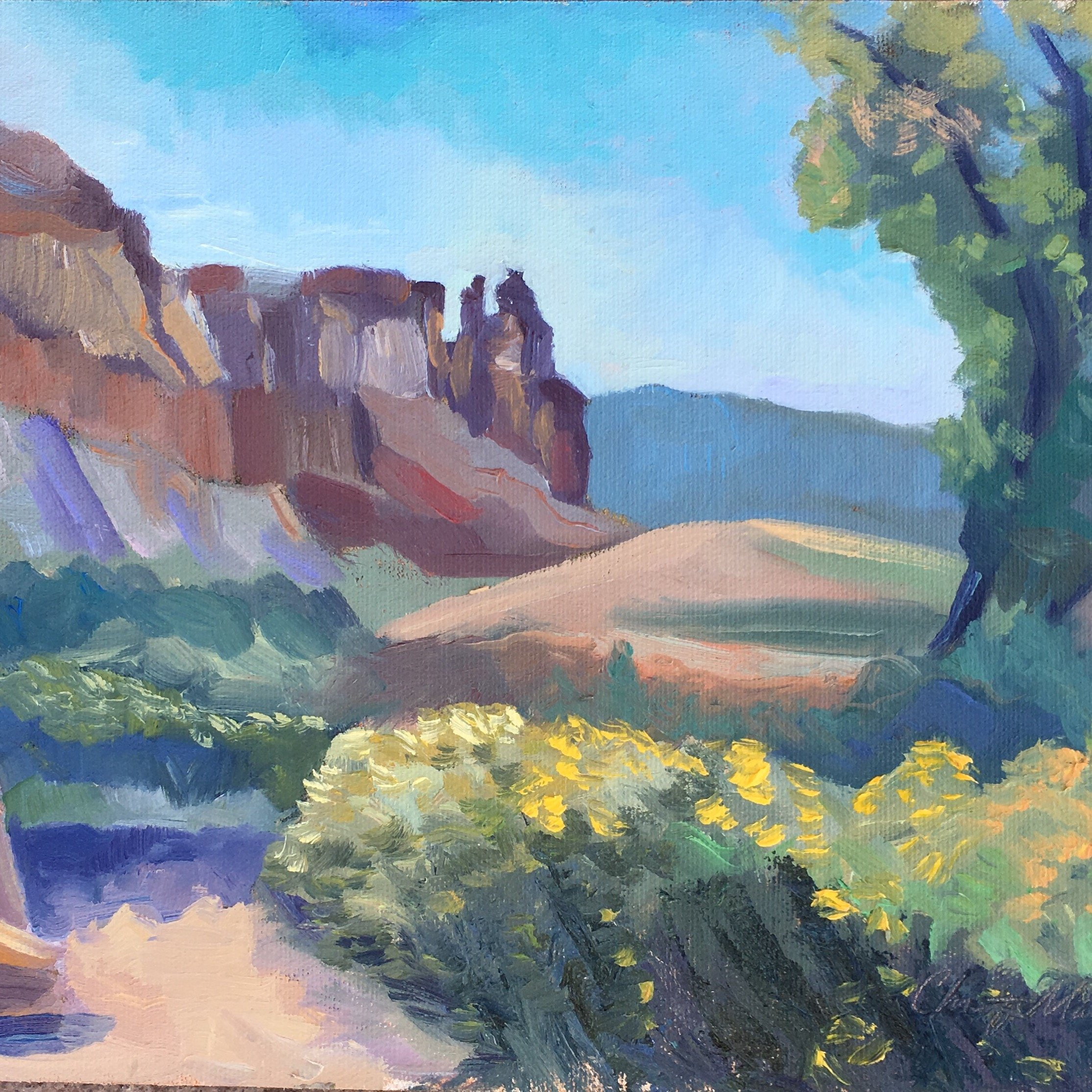 9x12, oil on panel, Ghost Ranch, New Mexico